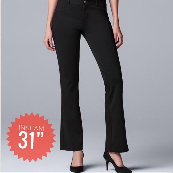 916a92600bc Women s SIMPLY VERA WANG Ponte Bootcut Pants